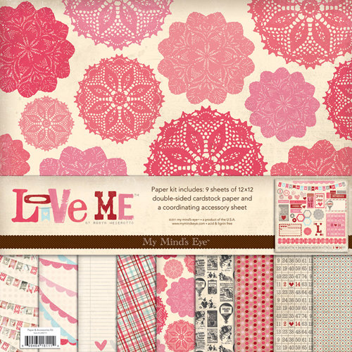 My Mind's Eye - Love Me Collection - 12 x 12 Paper Kit