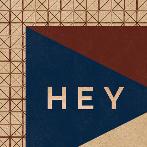 My Minds Eye - Hey Mister Collection - 12 x 12 Double Sided Kraft Paper with Foil Accents - Hey There