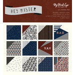 My Minds Eye - Hey Mister Collection - 6 x 6 Paper Pad with Foil Accents