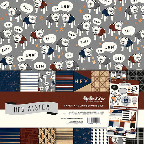 My Minds Eye - Hey Mister Collection - 12 x 12 Paper and Accessories Kit