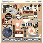 My Minds Eye - Hey Mister Collection - 12 x 12 Chipboard Stickers - Elements