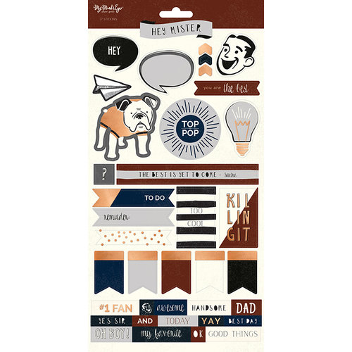 My Minds Eye - Hey Mister Collection - Cardstock Stickers