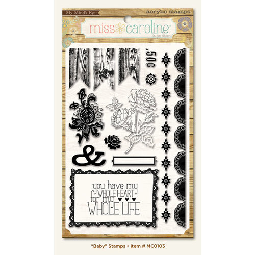 My Mind's Eye - Miss Caroline Collection - Howdy Doody - Clear Acrylic Stamps - Baby