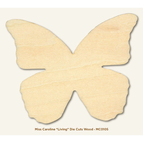 My Mind's Eye - Miss Caroline Collection - Dolled Up - Die Cut Wood Piece - Living