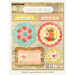 My Mind's Eye - Miss Caroline Collection - Howdy Doody - 3 Dimensional Stickers with Pearl Accents - Beautiful