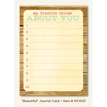 My Mind's Eye - Miss Caroline Collection - Howdy Doody - Journal Card - Beautiful