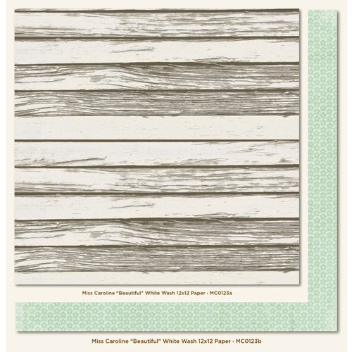 My Mind's Eye - Miss Caroline Collection - Howdy Doody - 12 x 12 Double Sided Paper - Beautiful White Wash