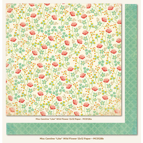 My Mind's Eye - Miss Caroline Collection - Howdy Doody - 12 x 12 Double Sided Paper - Like Wild Flower
