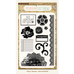 My Mind's Eye - Miss Caroline Collection - Fiddlesticks - Clear Acrylic Stamps - Story