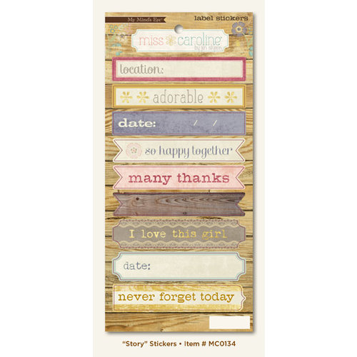 My Mind's Eye - Miss Caroline Collection - Fiddlesticks - Cardstock Stickers - Story Label