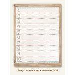 My Mind's Eye - Miss Caroline Collection - Fiddlesticks - Journal Card - Story