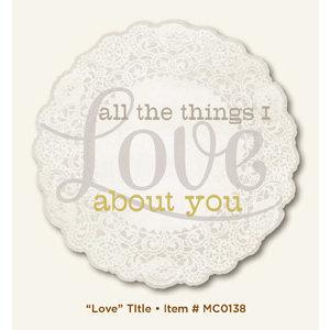 My Mind's Eye - Miss Caroline Collection - Fiddlesticks - Title - Love