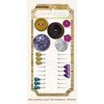 My Mind's Eye - Miss Caroline Collection - Fiddlesticks - Pins and Buttons - Love