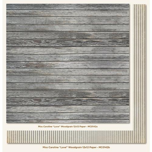 My Mind S Eye Miss Caroline Collection Fiddlesticks 12 X 12 Double Sided Paper Love Woodgrain