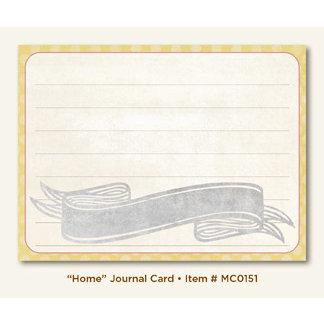 My Mind's Eye - Miss Caroline Collection - Fiddlesticks - Journal Card - Home