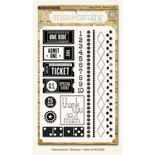 My Mind's Eye - Miss Caroline Collection - Dilly Dally - Clear Acrylic Stamps - Adventures