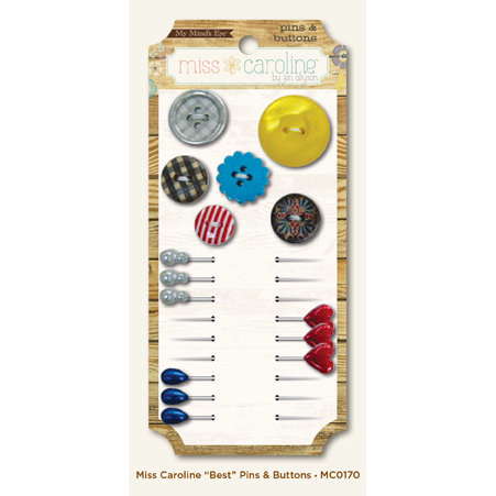 My Mind's Eye - Miss Caroline Collection - Dilly Dally - Pins and Buttons - Best