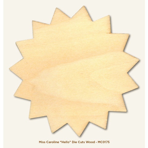 My Mind's Eye - Miss Caroline Collection - Dilly Dally - Die Cut Wood Piece - Hello