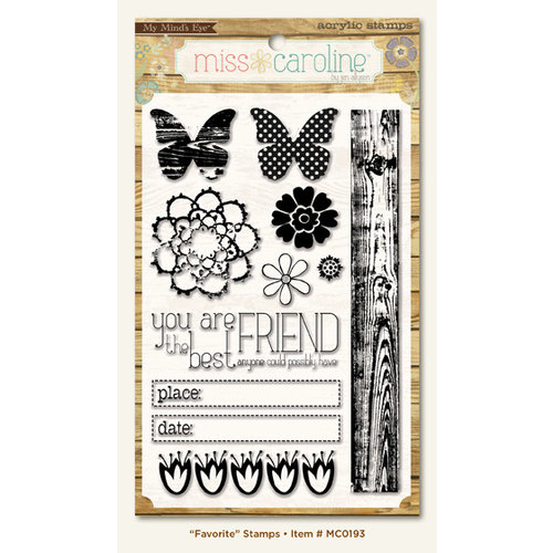 My Mind's Eye - Miss Caroline Collection - Dolled Up - Clear Acrylic Stamps - Favorite
