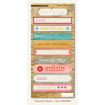 My Mind's Eye - Miss Caroline Collection - Dolled Up - Cardstock Stickers - Favorite Label