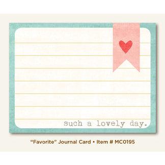 My Mind's Eye - Miss Caroline Collection - Dolled Up - Journal Card - Favorite