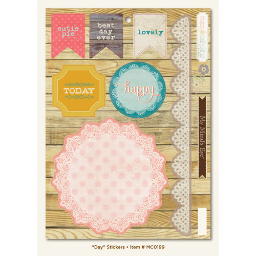 My Mind's Eye - Miss Caroline Collection - Dolled Up - Cardstock Stickers - Day
