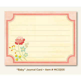 My Mind's Eye - Miss Caroline Collection - Howdy Doody - Journal Card - Baby