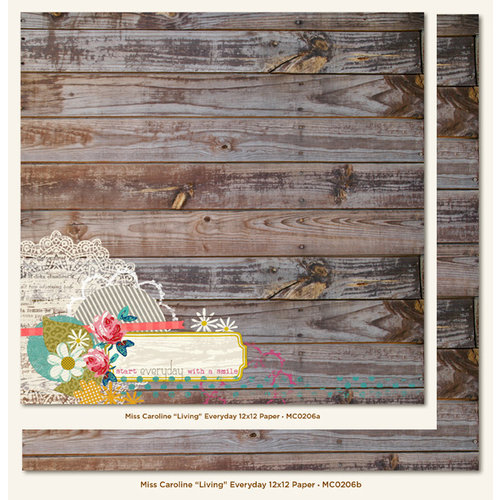 My Mind's Eye - Miss Caroline Collection - Dolled Up - 12 x 12 Double Sided Paper - Living Everyday