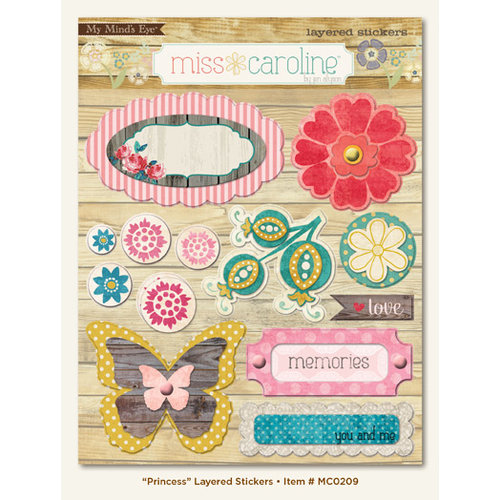 My Mind's Eye - Miss Caroline Collection - Dolled Up - 3 Dimensional Stickers - Princess