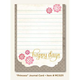 My Mind's Eye - Miss Caroline Collection - Dolled Up - Journal Card - Princess