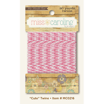 My Mind's Eye - Miss Caroline Collection - Dolled Up - Twine - Cute