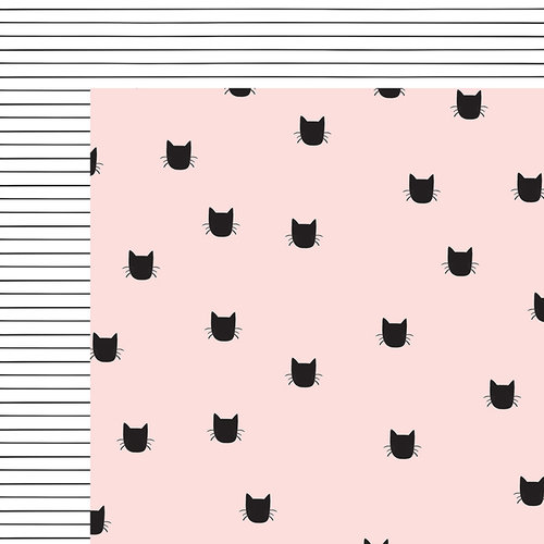 My Minds Eye - Meow Collection - 12 x 12 Double Sided Paper - Black Cat