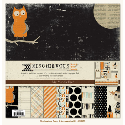 My Mind's Eye - Mischievous Collection - Halloween - 12 x 12 Paper Kit