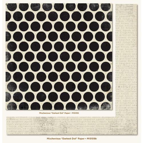 My Mind's Eye - Mischievous Collection - Halloween - 12 x 12 Double Sided Paper - Darkest Dot