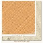 My Mind's Eye - Mischievous Collection - Halloween - 12 x 12 Double Sided Paper - Pumpkin Stripe