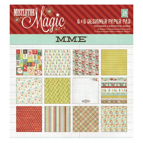My Mind's Eye - Mistletoe Magic Collection - Christmas - 6 x 6 Paper Pad