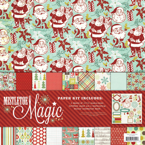 My Mind's Eye - Mistletoe Magic Collection - Christmas - 12 x 12 Paper Kit