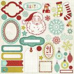 My Mind's Eye - Mistletoe Magic Collection - Christmas - 12 x 12 Cardstock Stickers