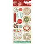 My Mind's Eye - Mistletoe Magic Collection - Christmas - Decorative Buttons