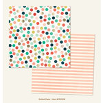 My Minds Eye - Market Street Collection - Ashbury Heights - 12 x 12 Double Sided Paper with Foil Accents - Dotted
