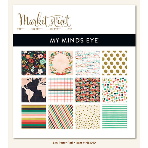 My Minds Eye - Market Street Collection - Ashbury Heights - 6 x 6 Paper Pad