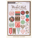 My Mind's Eye - Market Street Collection - Ashbury Heights - Decorative Buttons