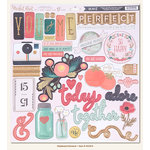 My Mind's Eye - Market Street Collection - Ashbury Heights - 12 x 12 Chipboard Stickers