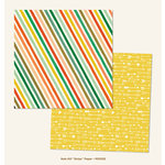 My Mind's Eye - Market Street Collection - Nob Hill - 12 x 12 Double Sided Paper - Stripes