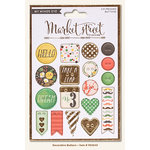 My Minds Eye - Market Street Collection - Nob Hill - Decorative Buttons