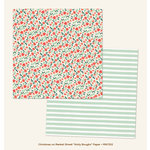 My Minds Eye - Christmas on Market Street Collection - 12 x 12 Double Sided Paper - Holly Boughs