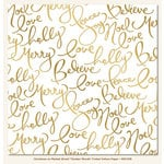 My Mind's Eye - Christmas on Market Street Collection - 12 x 12 Vellum Paper with Foil Accents - Golden Words