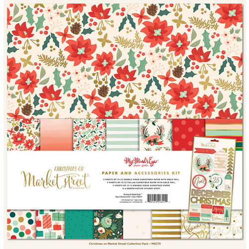 My Mind's Eye - Christmas on Market Street Collection - 12 x 12 Paper and Accessories Kit