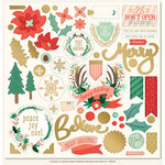 My Minds Eye - Christmas on Market Street Collection - 12 x 12 Chipboard Stickers - Elements