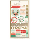 My Minds Eye - Christmas on Market Street Collection - Cardstock Stickers - Labels